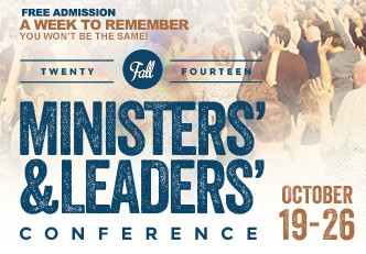Fall Ministers' & Leaders' Conference 2014