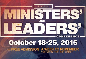 Fall Ministers' & Leaders' Conference 2015